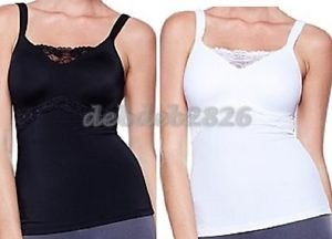 RHONDA SHEAR MOLDED CUP CAMISOLE WITH LACE INSET