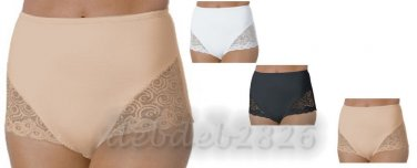 BALI ELEGANT LACE ACCENTED CONTROL PANTY SET (2 PACK) $35 value