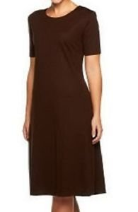 Susan Graver Ponte Knit Swing Dress X-SMALL