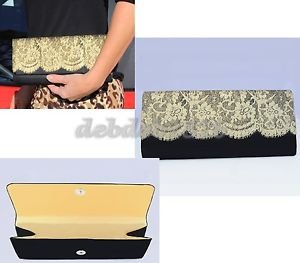 LACE SATINY WOMENS CLUTCH