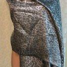 Liz Claiborne New York Metallic Animal Pashmina with Fringe Detail