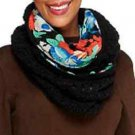 Collection 18 Ikat Floral Print to Knit Infinity Scarf