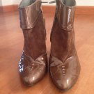 Brown Nine West Booties