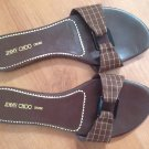 Brown Jimmy Choo Slides US Size 6.5