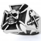 STAINLESS STEEL 316L MEN IRON CROSS RING, SIZE 11 (SSR90)