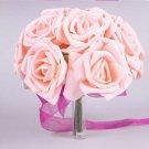 6 Pcs Pink Rose Wedding Decor Foam Rose Shape Bridal Bridesmaid Flower(BICP038848)
