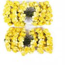 Yellow Beautiful 144Pcs Mini Artificial Paper Rose Flower Wedding Card DIY Decor Craft(BICP048451)