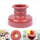 Home DIY Doughnut Tool Donut Mold Cake Desserts Bread Plunger Cutter Maker Mould(BICP045089)