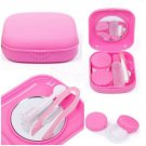 1 x Pocket Contact Lens Case Travel Kit Mirror Container Contact Lens Holder(BICP048471)
