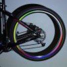 8 PCS / Sheet Red Fashionable Bike Wheel Reflective Stickers(OU0086801)