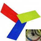 3 Sheets (24 pcs ) Bicycle Wheel Reflective Stickers Bike Wheel Safe Reflection Sticker (OU0081101)