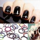 30 Pcs Metallic Yarn Line Rolls Striping Tape Nail Art Decoration Sticker Tools(TOM-H10830)