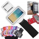 White Sports Armband Gym Running Jog Case Arm Holder for iPhone 6 Samsung Galaxy S4/S3