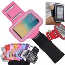 Pink Sports Armband Gym Running Jog Case Arm Holder for iPhone 6 Samsung Galaxy S4/S3
