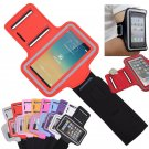 Red Sports Armband Gym Running Jog Case Arm Holder for iPhone 6 Samsung Galaxy S4/S3