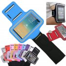 Blue Sports Armband Gym Running Jog Case Arm Holder for iPhone 6 Samsung Galaxy S4/S3