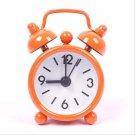 1 Pcs Orange Mini Cartoon Dial Number Round Desktop Alarm Clock (HT-61193 Orange)