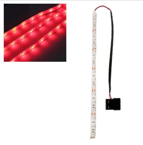 Red 60cm 5050SMD LED PC Computer Case Strip Light Self-adhesive(HT-49842 RED)
