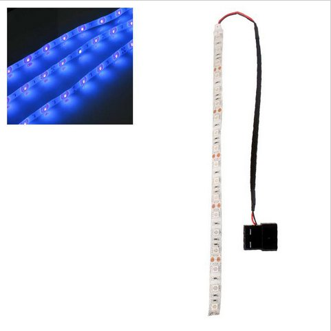 Blue 60cm 5050SMD LED PC Computer Case Strip Light Self-adhesive(HT-49842 Blue)