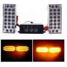 2 X 22LED (Yellow )LEDs Strobe Emergency Flashing Warning Grill Strobe Light Lamp(BICP053510)