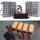 4X 22LED (Yellow )LEDs Strobe Emergency Flashing Warning Grill Strobe Light Lamp(BICP053510)