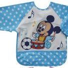 Mickey Blue Toddler Baby Infants Boys Girls Long Sleeves Waterproof Bibs(150846750810)