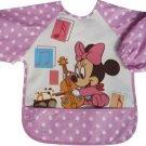 Minnie Pink Toddler Baby Infants Boys Girls Long Sleeves Waterproof Bibs(150846750810)