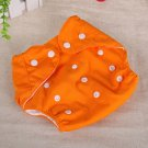 Orange Reusable Baby Infant Nappy Cloth Diapers Soft Covers Washable Size Adjustable(181389451785)