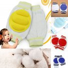 1 Pair Light Blue Kids Safety Crawling Elbow Cushion Baby Knee Pads Protector (181472163268)