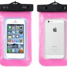Pink Bag Phone Waterproof Pouch Case Cover For iPhone 4/5S Samsung (261582730830)