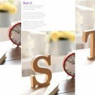 """S"" 1 Pcs Wooden Letter S  Alphabet Word Free Standing Wedding Party Home Decor(261601445657)"