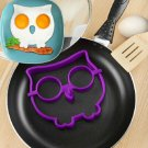 Breakfast Silicone Owl Fried Egg Mold Pancake Egg Ring Shaper Funny Cooking Tool(261676640686)
