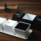 Black Color 1 set/3pcs Fashion Ctrl Alt Del Keyboard Key Coffee Tea Cup(161095087847)
