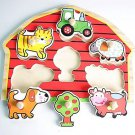 Red house pretty funny colorful wooden animal jigsaw puzzle