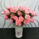 1 Pcs (6 Rose Head) Pink Artificial Flowers Silk Rose Bouquet Home Decor (251757596084)