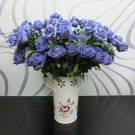 1 Pcs (6 Rose Head) Purple Artificial Flowers Silk Rose Bouquet Home Decor (251757596084)