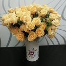1 Pcs (6 Rose Head) Yellow  Artificial Flowers Silk Rose Bouquet Home Decor (251757596084)