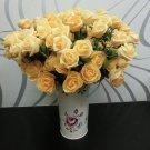 1 Pcs (6 Rose Head) Yellow  Artificial Flowers Silk Rose Bouquet Home Decor (251757596084)