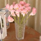 12 Pcs Pink Calla Lily Artificial Bouquet Fake Silk Flowers ( 381050731191)