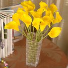 12 Pcs Yellow Calla Lily Artificial Bouquet Fake Silk Flowers ( 381050731191)