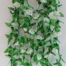 1 Strip Milk White Artificial Silk Rose Flower Hanging Garland Wedding Home Decor (371040802810)