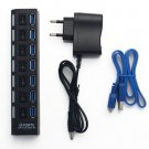 7 PORT USB 3.0 HUB High Speed Power On/Off Switch Desktop Laptop Notebook (400830820918)
