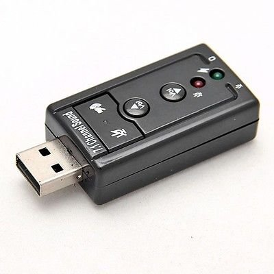 USB 2.0 12Mbps Virtual 7.1-Channel CH 3D Audio Sound Card Adapter  (400727445266)