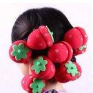 6pcs Strawberry Soft Sponge Hair Curler Roller Balls(171368010587)