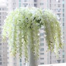 1Pc White Artificial Wisteria Silk Flower Home Party Wedding Garden Floral Decoration(291196278757)