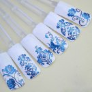 Blue 108PCS/Sheet 3D Flower Decal Stickers Nail Art Tip stamping Manicure (380980709985)
