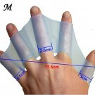 1 Pair SiZe M Training Paddle Dive Glove Swim Gear Fins Hand Webbed Flippers Silicone(141387102288)