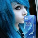 BERINA HAIR COLOR CREAM A41 BLUE COLOR PERMANENT HAIR DYE SUPER COLOR(291370656525)
