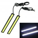 2x Super Bright COB White Car LED Lights 12V for DRL Fog Driving Lamp Waterproof
