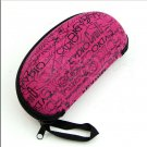 Pink Zipper Peanut Eye Glasses Sunglasses Hard Case Portable Holder Protector Box